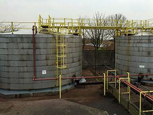 This full proof and long term system was applied to both tanks in this oil bund in Middlesbrough.